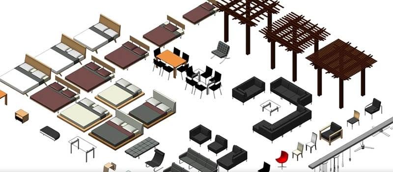 Revit enhances millwork designing with furniture 3D models