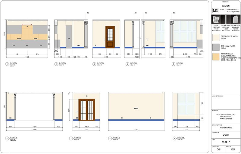 Wall Elevations for Real Estate Project