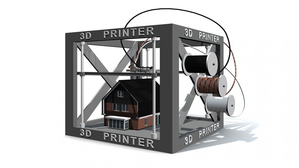 3D Printer and a House Model