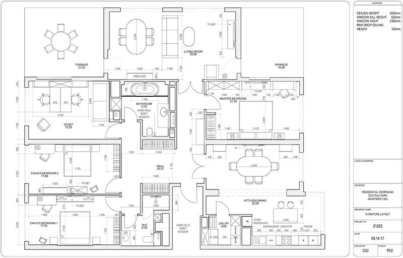 A Blueprint of Interior Project