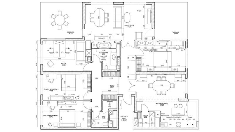 CAD furniture layout