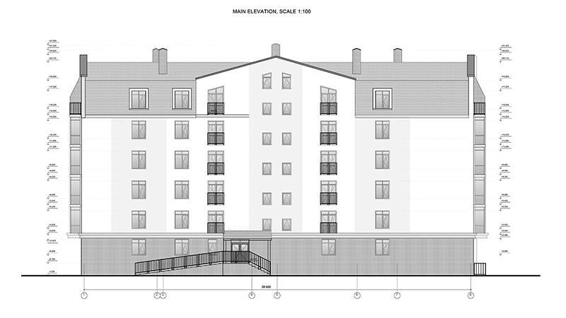 Wall elevation drawing