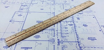Printed Architectural Drawings with a Ruler