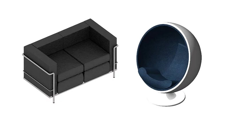 Different Revit Furniture Models Ready to Be 3D Printed