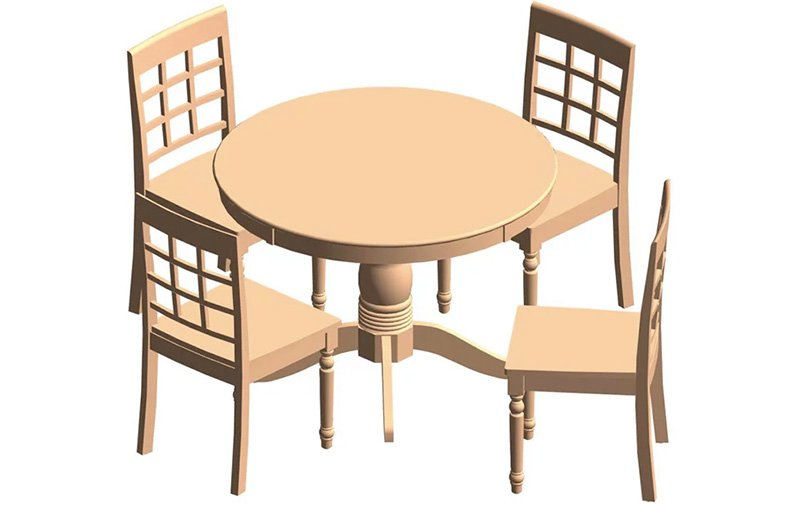 Furniture Revit Families Ready to be Printed