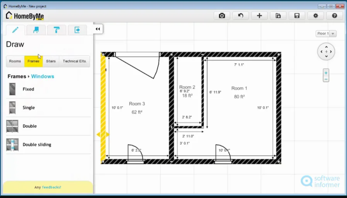 Application for floor plan: Homebyme