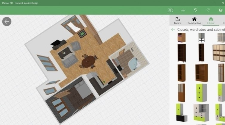 Software for floor plan: Planner5D