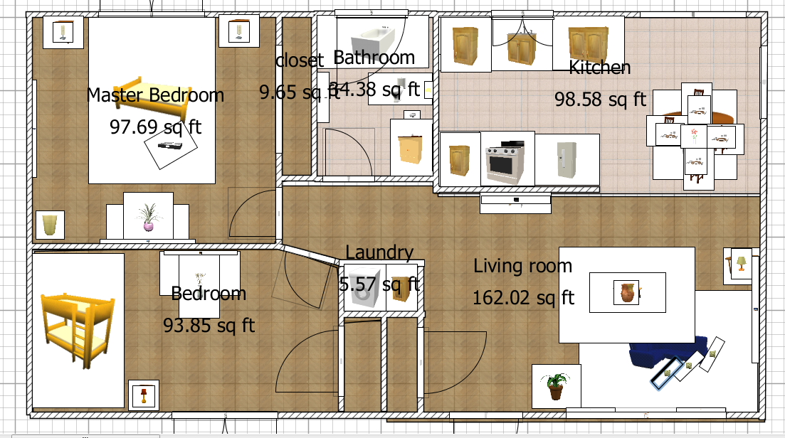 Application for floor plan: Sweet Home 3D