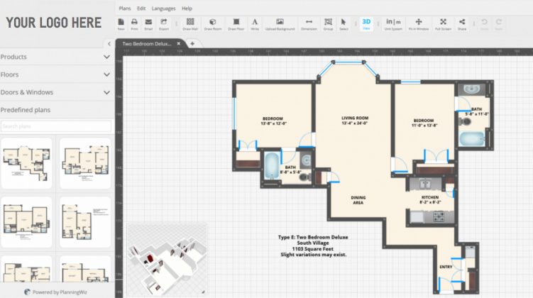 Soft for floor plan: PlanningWiz Floor Planner