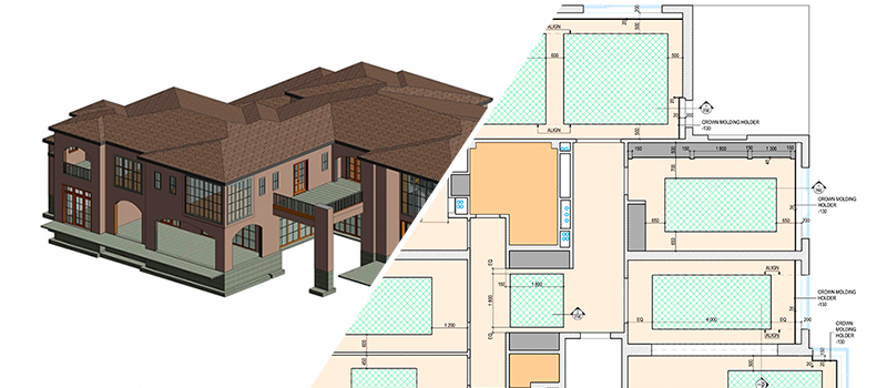 BIM drafting vs 2D drawing for architecture