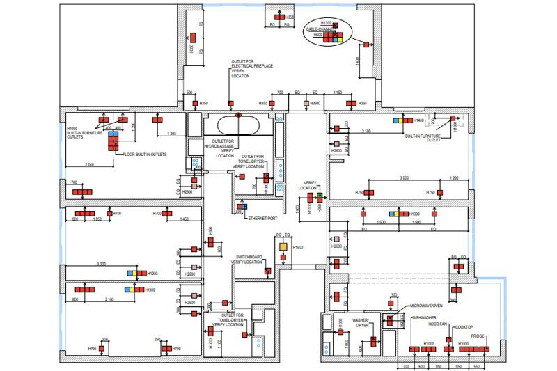Mechanical, Electrical and Plumbing Drafts for a Residence