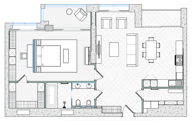 Professional CAD Furniture Layout Plans