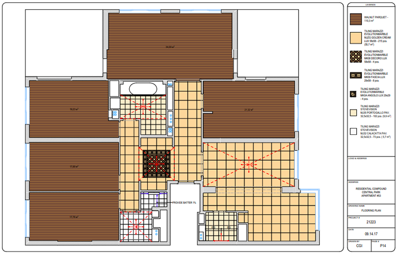 Floor Plans for Coordinating the Choice of Materials