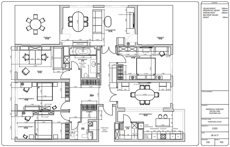 Floor Plans Featuring Furniture and Appliances